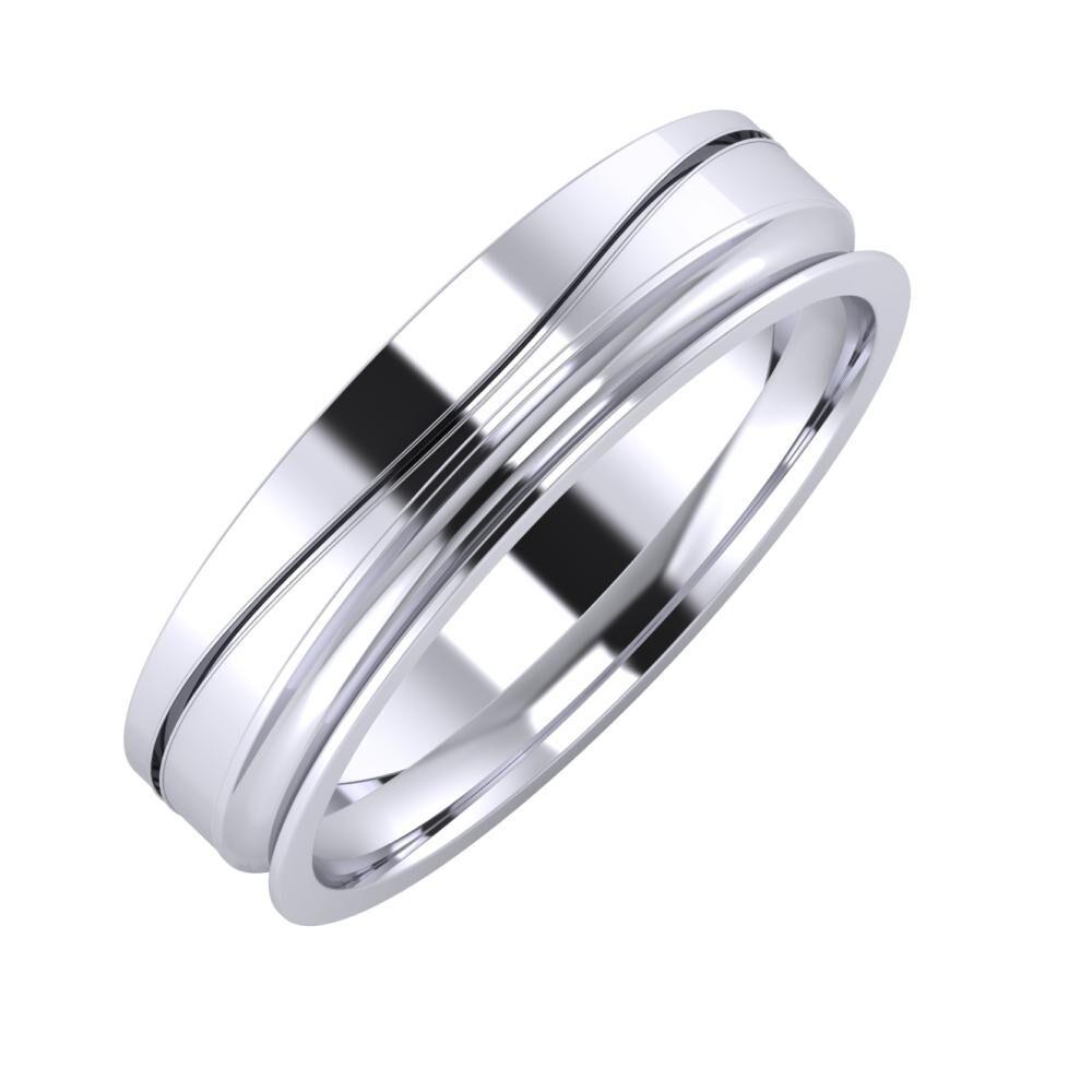 Adelinda - Alexandrina 5mm platina karikagyűrű