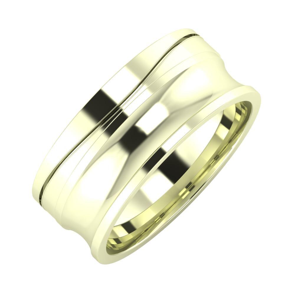 Adelinda - Alexandrina 8mm 22 karátos fehér arany karikagyűrű