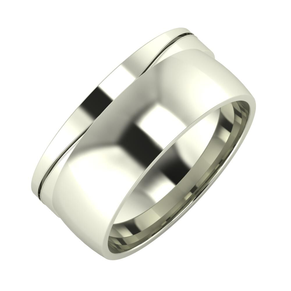 Adelinda - Alma 9mm 14 karátos fehér arany karikagyűrű