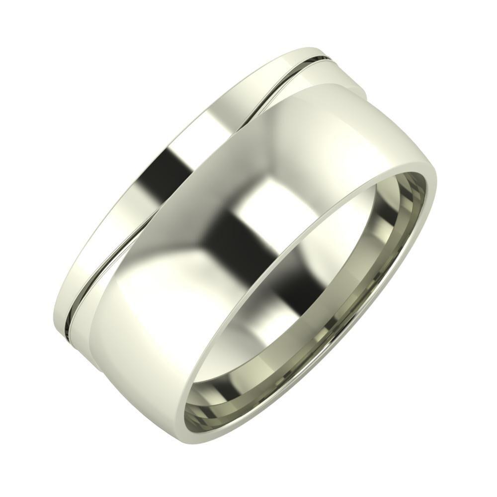 Adelinda - Alma 9mm 18 karátos fehér arany karikagyűrű