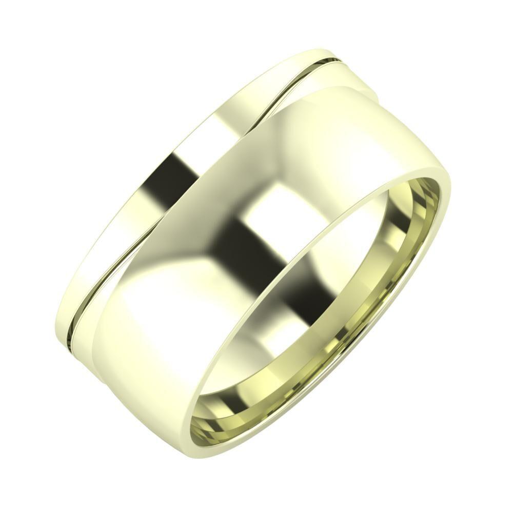 Adelinda - Alma 9mm 22 karátos fehér arany karikagyűrű