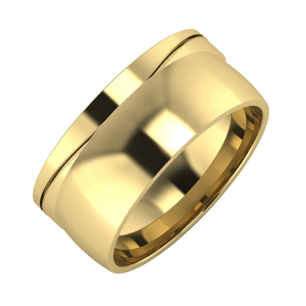 Adelinda - Alma 9mm 14 karátos sárga arany karikagyűrű