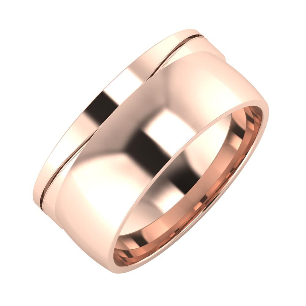 Adelinda - Alma 9mm 14 karátos rosé arany karikagyűrű