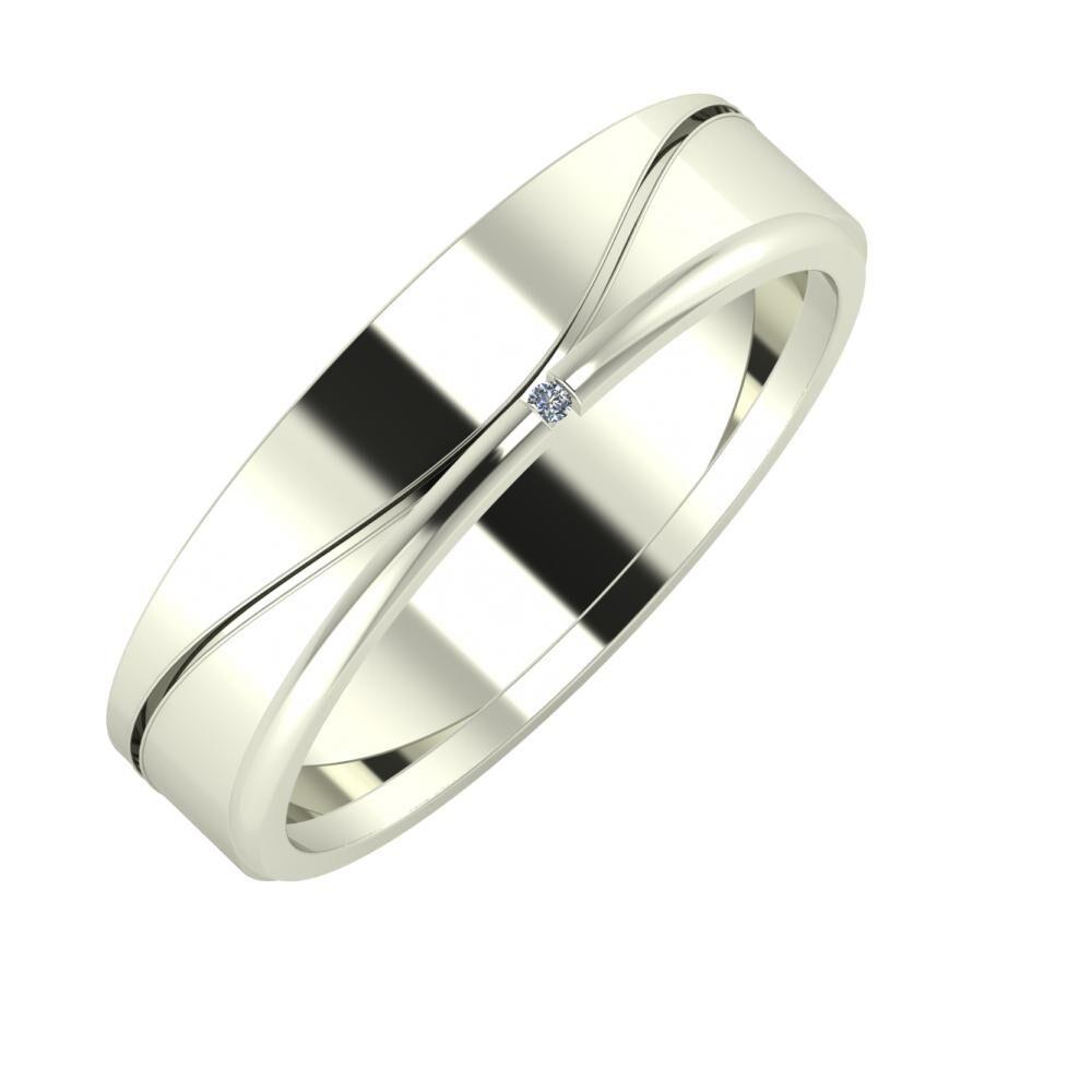 Adelinda - Adalind 5mm 14 karátos fehér arany karikagyűrű