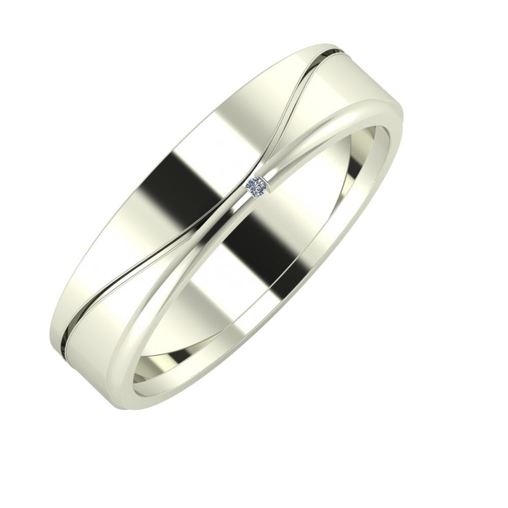 Adelinda - Adalind 5mm 18 karátos fehér arany karikagyűrű