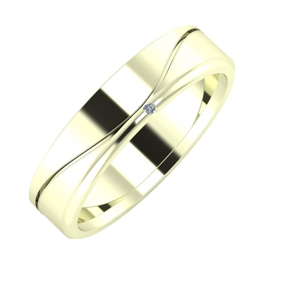 Adelinda - Adalind 5mm 22 karátos fehér arany karikagyűrű