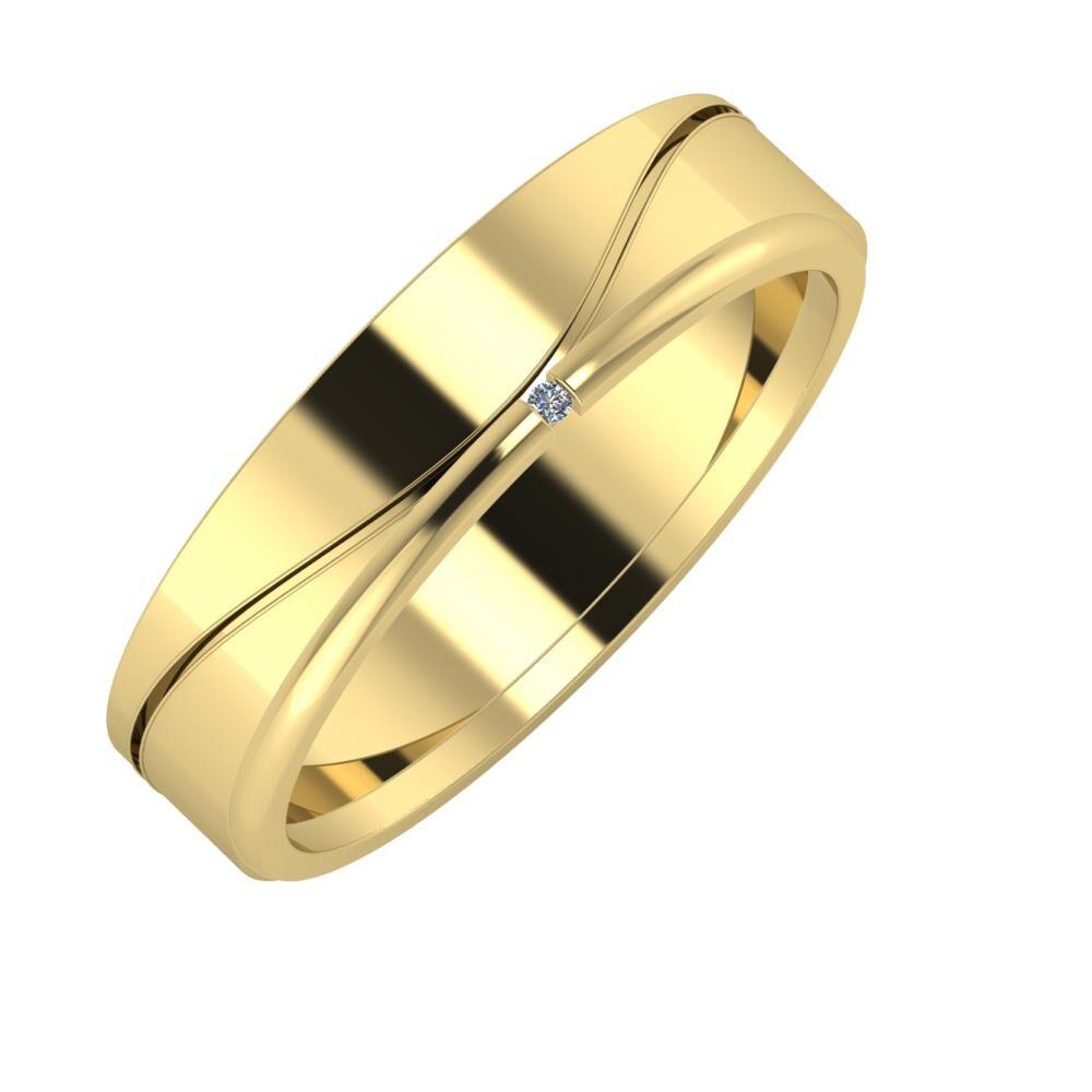 Adelinda - Adalind 5mm 14 karátos sárga arany karikagyűrű