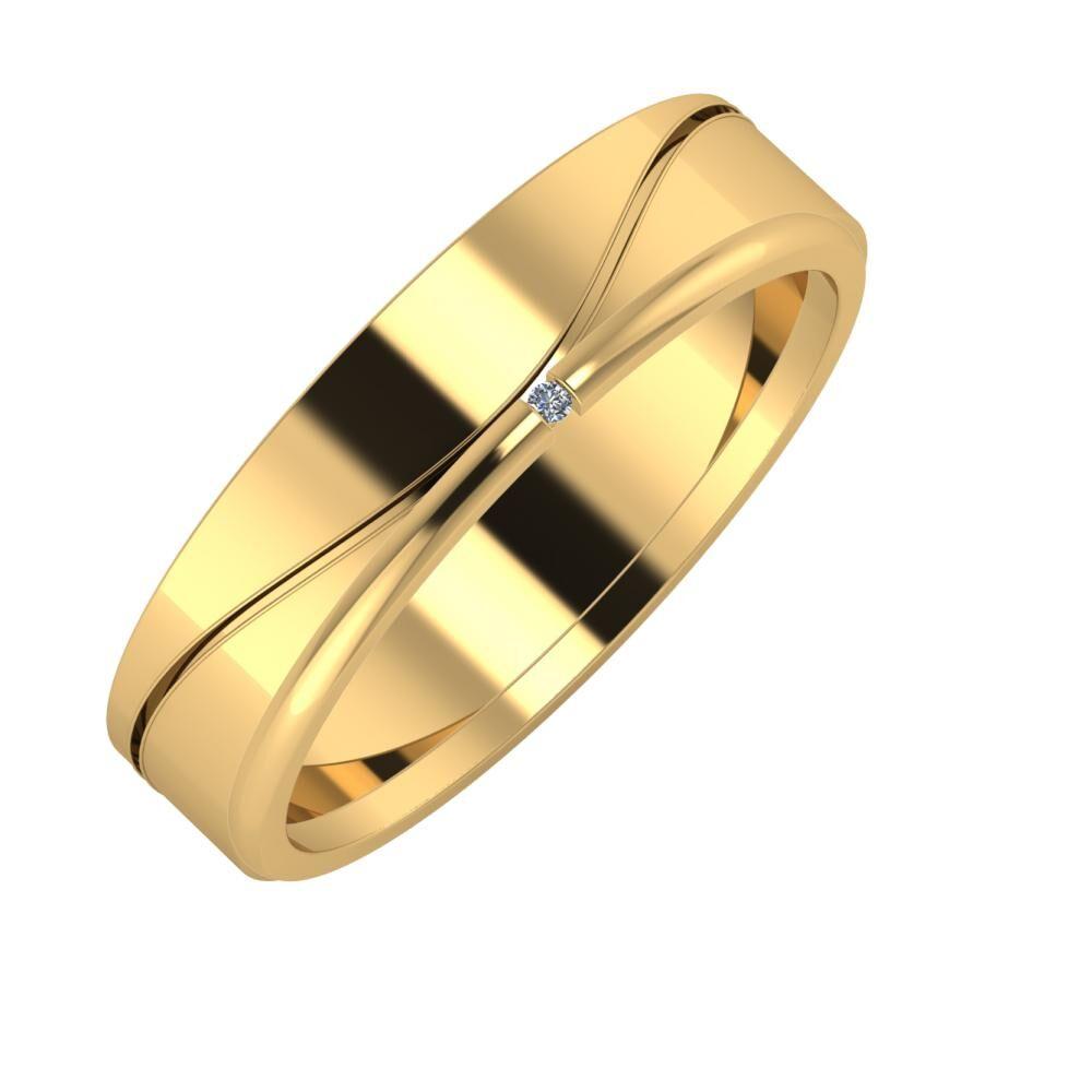 Adelinda - Adalind 5mm 22 karátos sárga arany karikagyűrű
