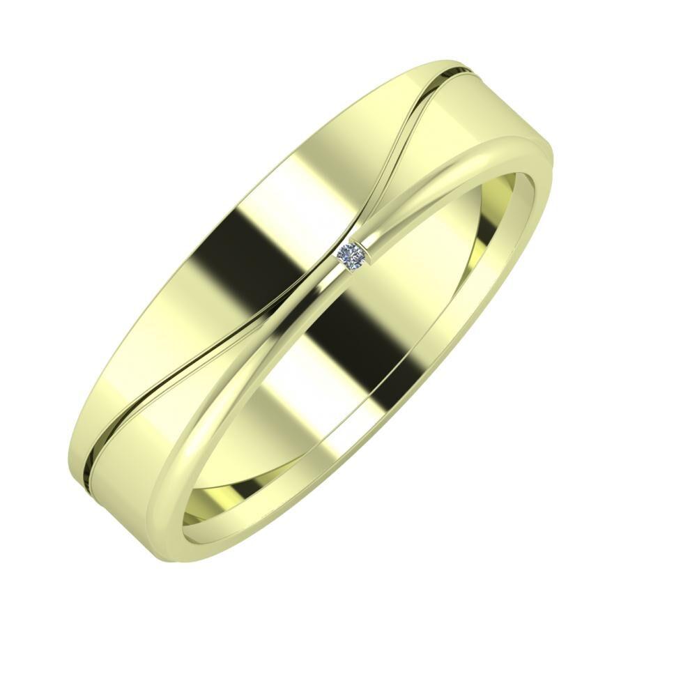 Adelinda - Adalind 5mm 14 karátos zöld arany karikagyűrű