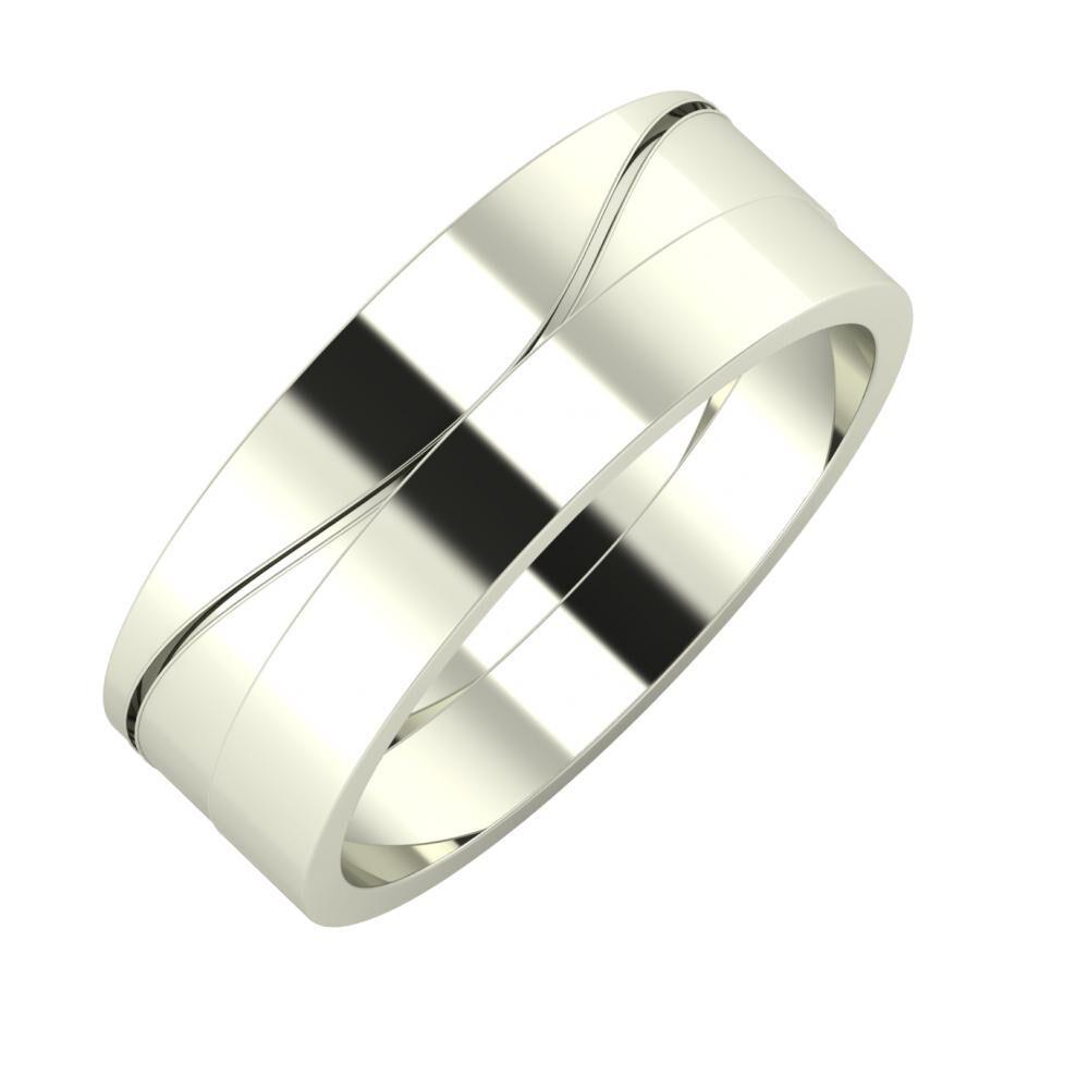 Adelinda - Adela 7mm 14 karátos fehér arany karikagyűrű