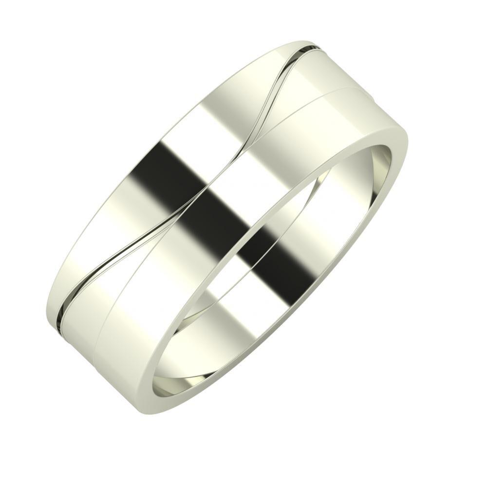 Adelinda - Adela 7mm 18 karátos fehér arany karikagyűrű