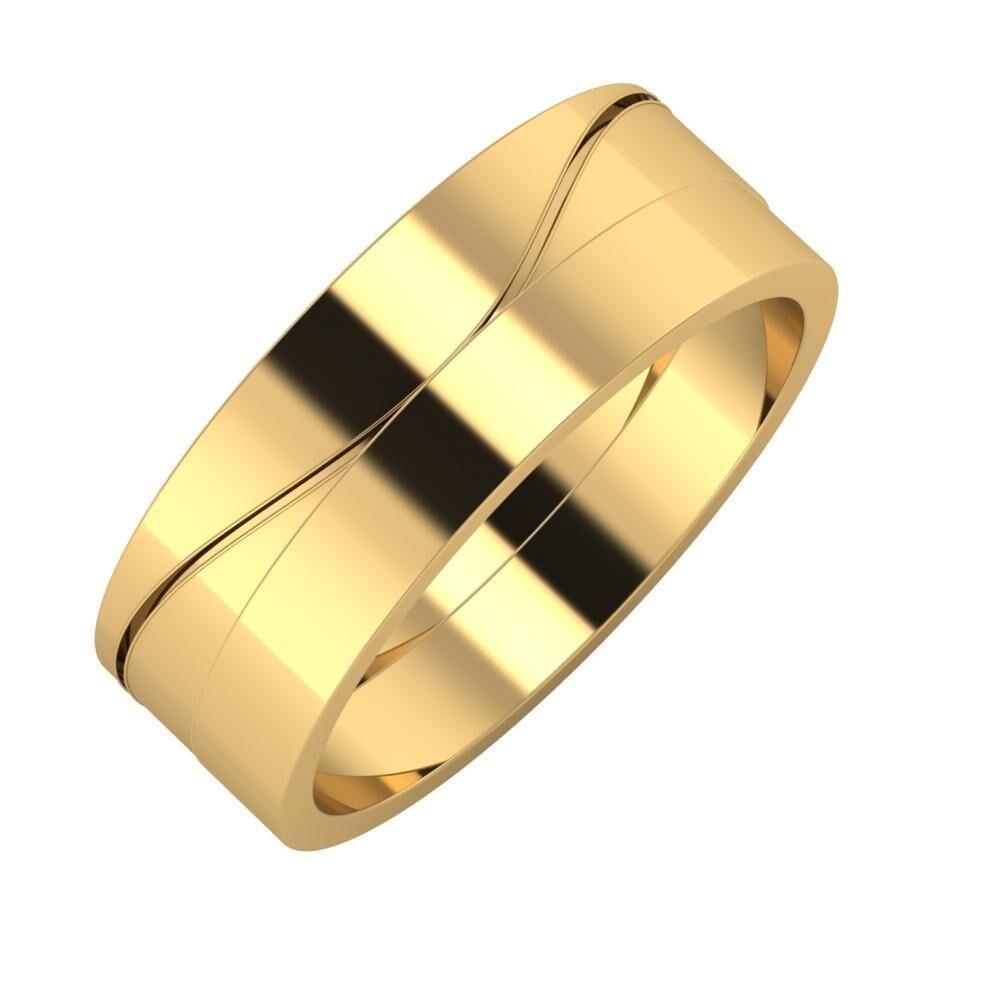 Adelinda - Adela 7mm 22 karátos sárga arany karikagyűrű