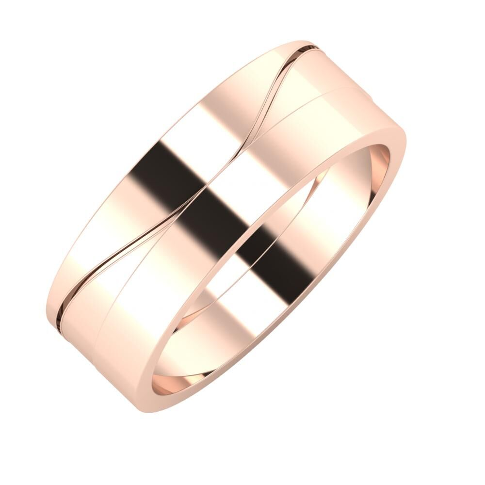 Adelinda - Adela 7mm 18 karátos rosé arany karikagyűrű