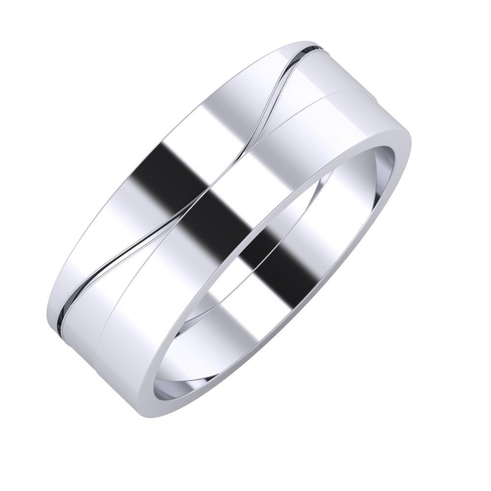 Adelinda - Adela 7mm platina karikagyűrű