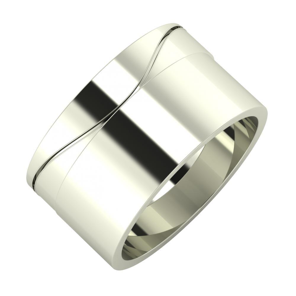 Adelinda - Adela 11mm 14 karátos fehér arany karikagyűrű