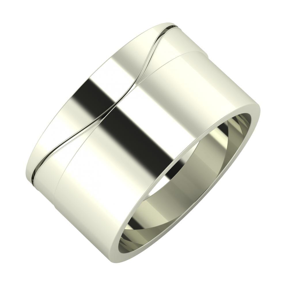 Adelinda - Adela 11mm 18 karátos fehér arany karikagyűrű