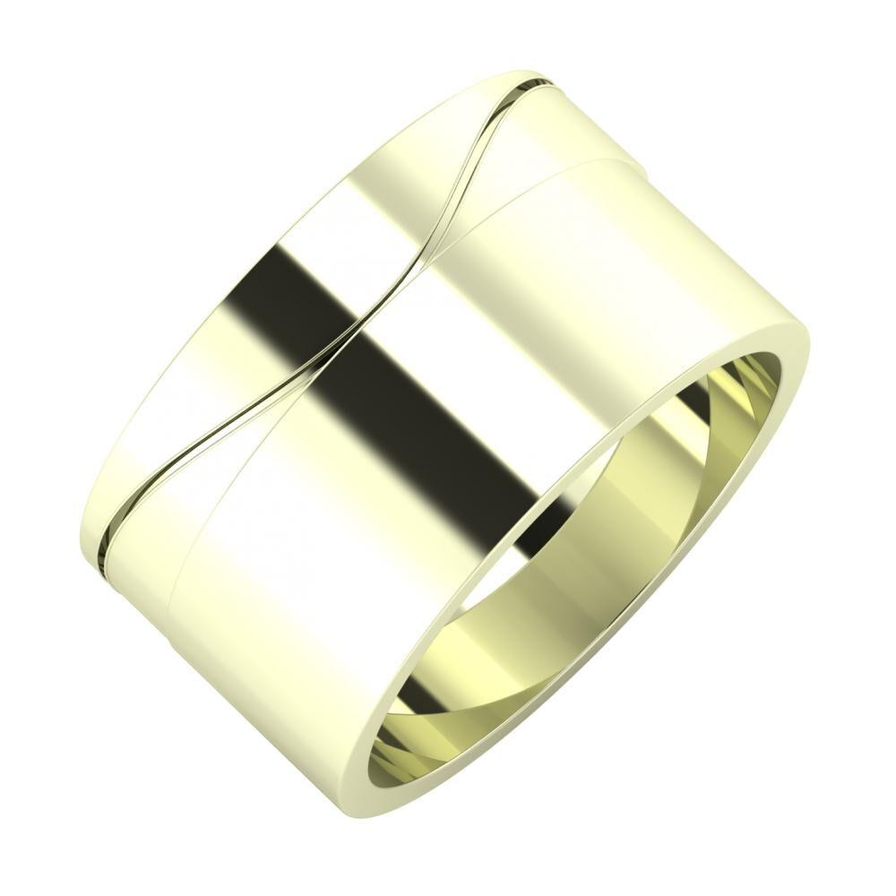 Adelinda - Adela 11mm 22 karátos fehér arany karikagyűrű
