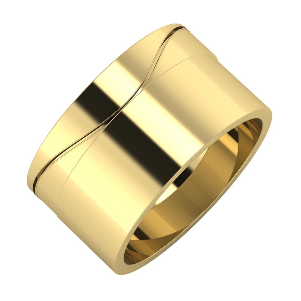 Adelinda - Adela 11mm 14 karátos sárga arany karikagyűrű