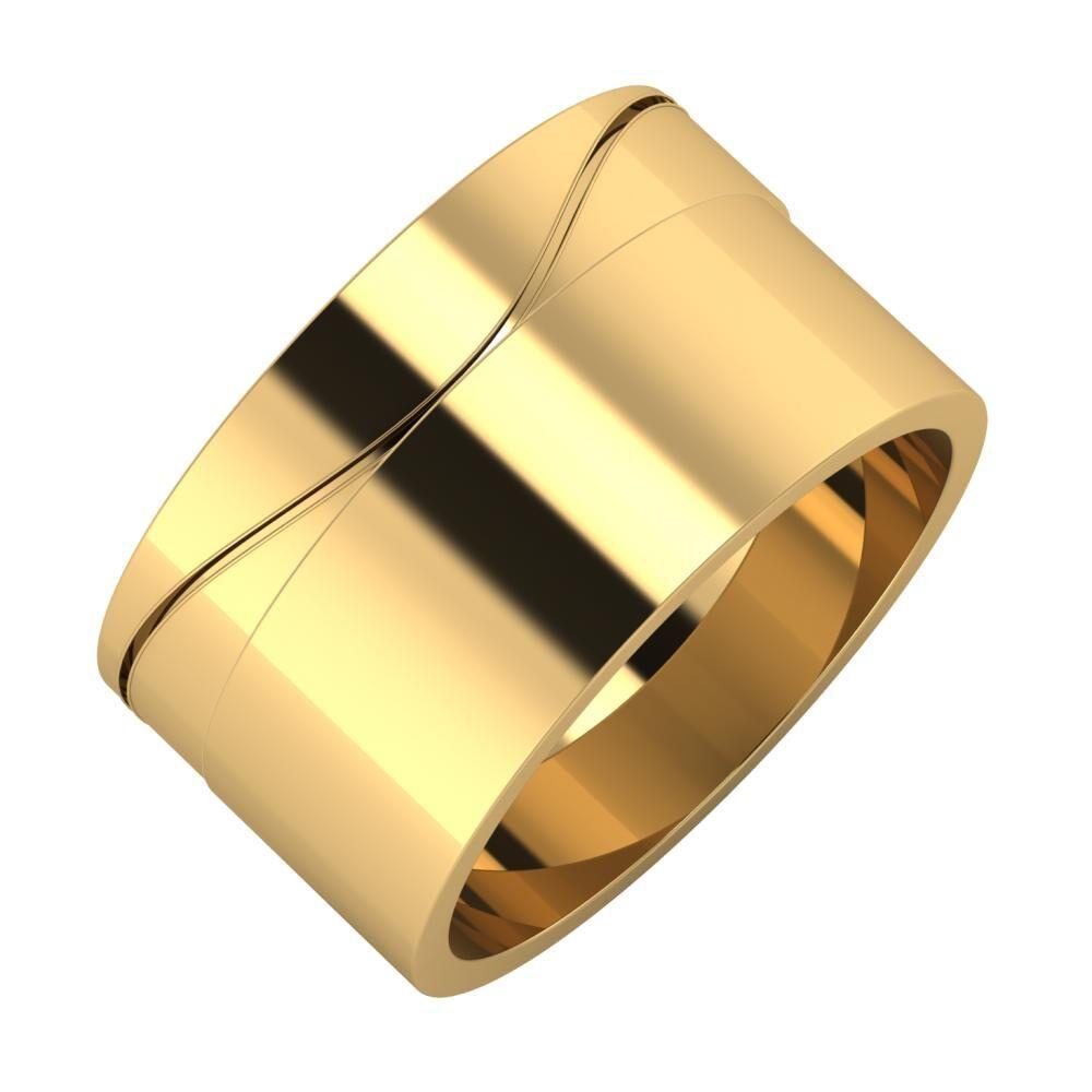 Adelinda - Adela 11mm 22 karátos sárga arany karikagyűrű