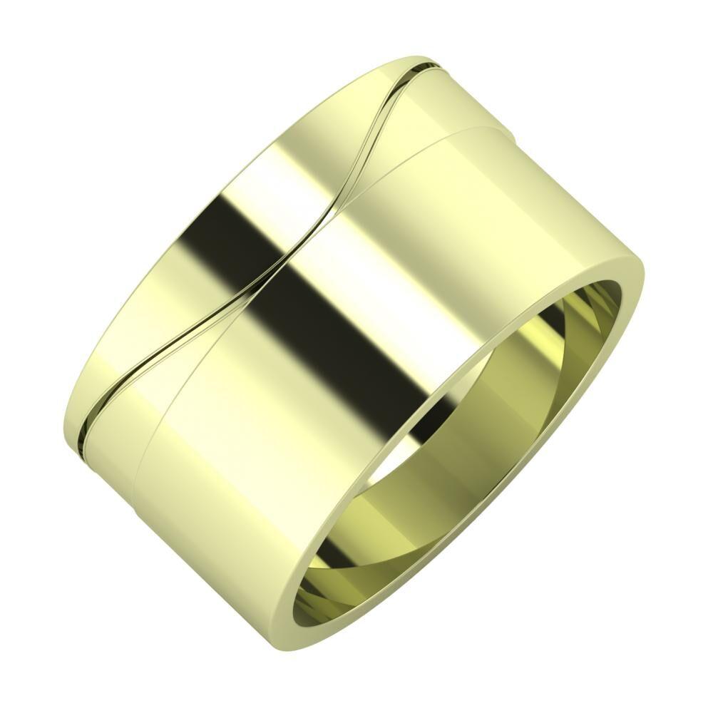 Adelinda - Adela 11mm 14 karátos zöld arany karikagyűrű