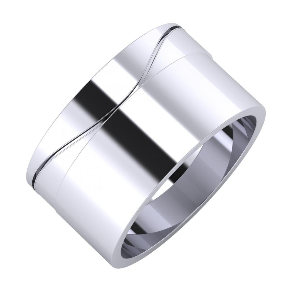 Adelinda - Adela 11mm platina karikagyűrű