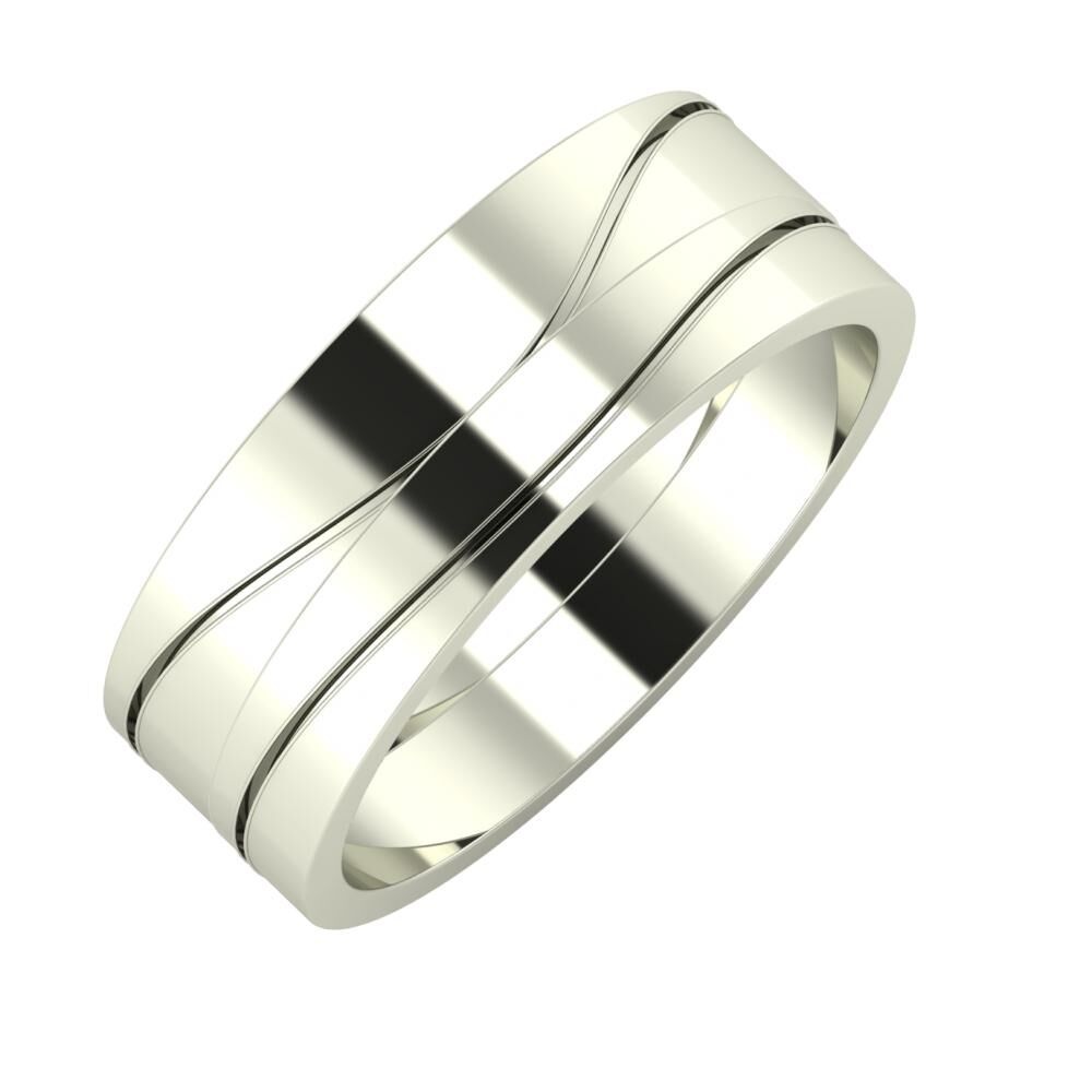 Adelinda - Adelinda 7mm 14 karátos fehér arany karikagyűrű