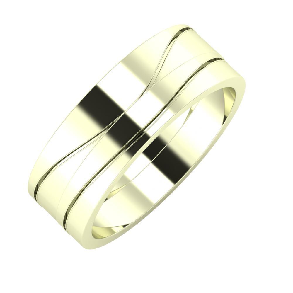 Adelinda - Adelinda 7mm 22 karátos fehér arany karikagyűrű