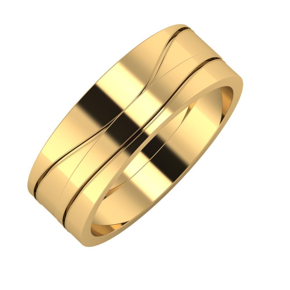 Adelinda - Adelinda 7mm 22 karátos sárga arany karikagyűrű