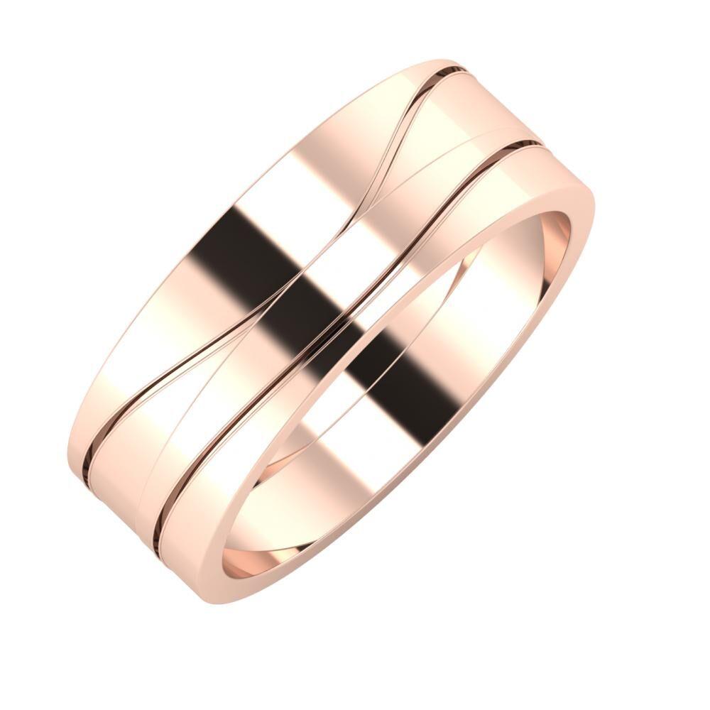 Adelinda - Adelinda 7mm 14 karátos rosé arany karikagyűrű