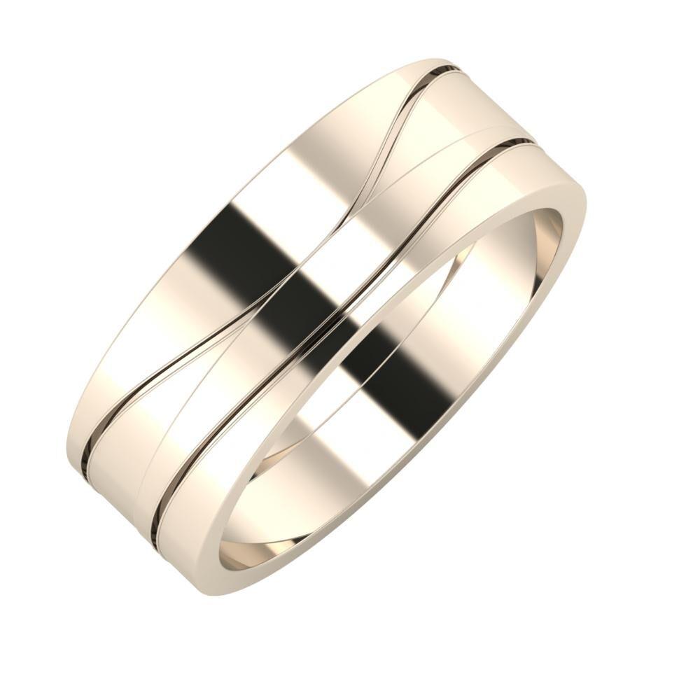 Adelinda - Adelinda 7mm 22 karátos rosé arany karikagyűrű