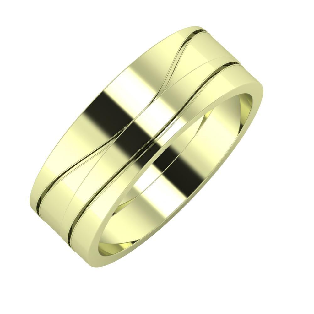 Adelinda - Adelinda 7mm 14 karátos zöld arany karikagyűrű