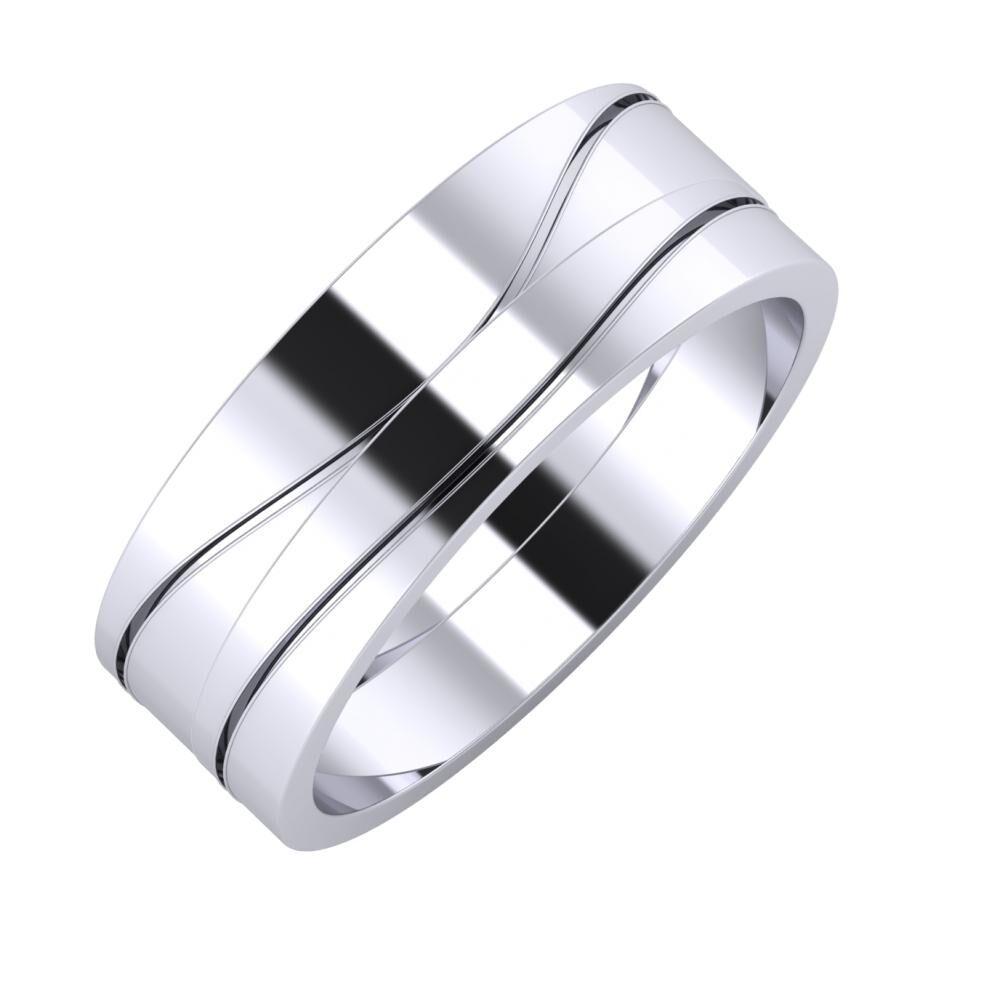 Adelinda - Adelinda 7mm platina karikagyűrű