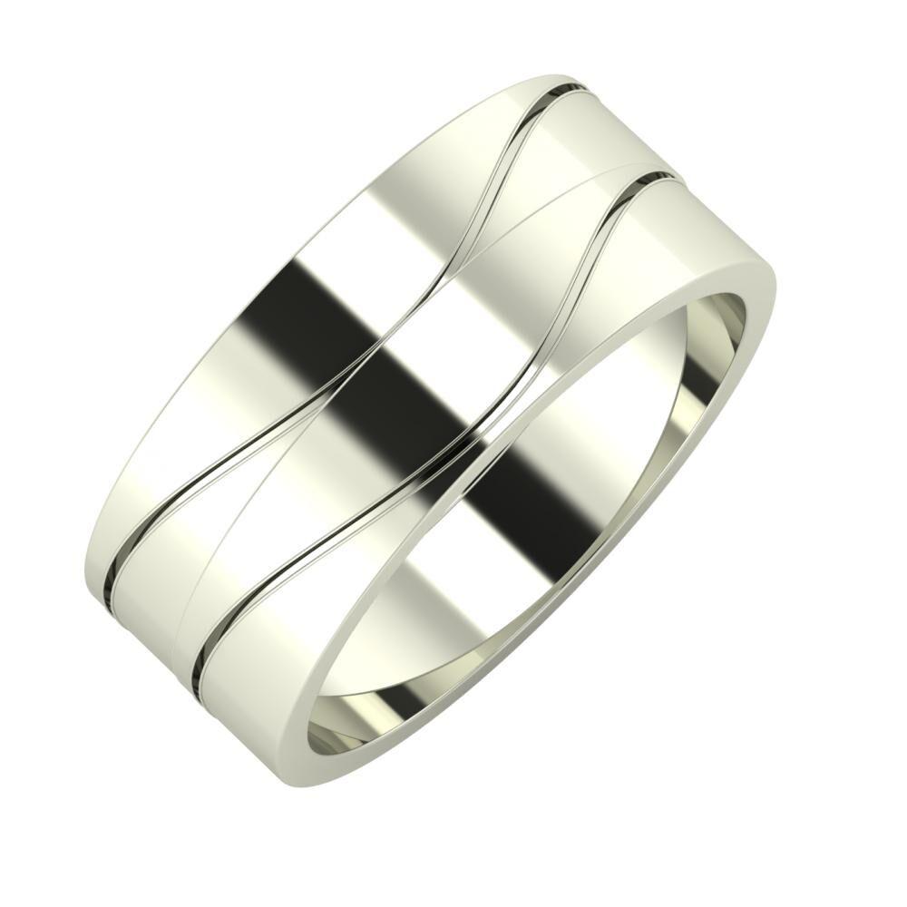 Adelinda - Adelinda 8mm 14 karátos fehér arany karikagyűrű