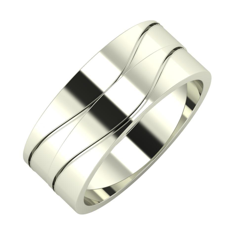 Adelinda - Adelinda 8mm 18 karátos fehér arany karikagyűrű