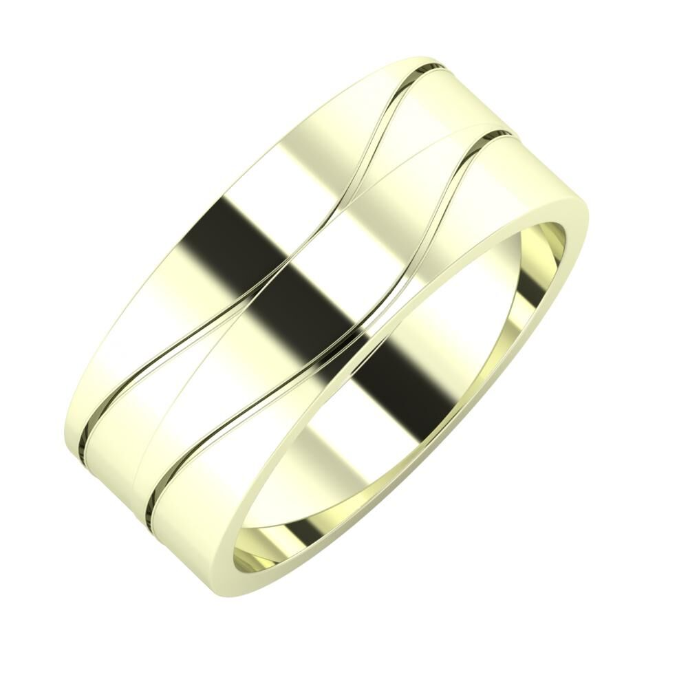 Adelinda - Adelinda 8mm 22 karátos fehér arany karikagyűrű