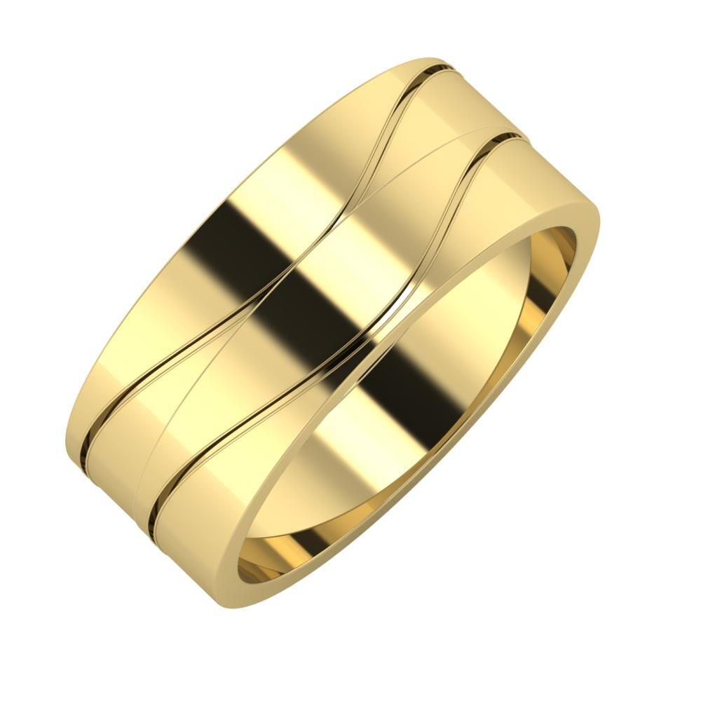 Adelinda - Adelinda 8mm 14 karátos sárga arany karikagyűrű