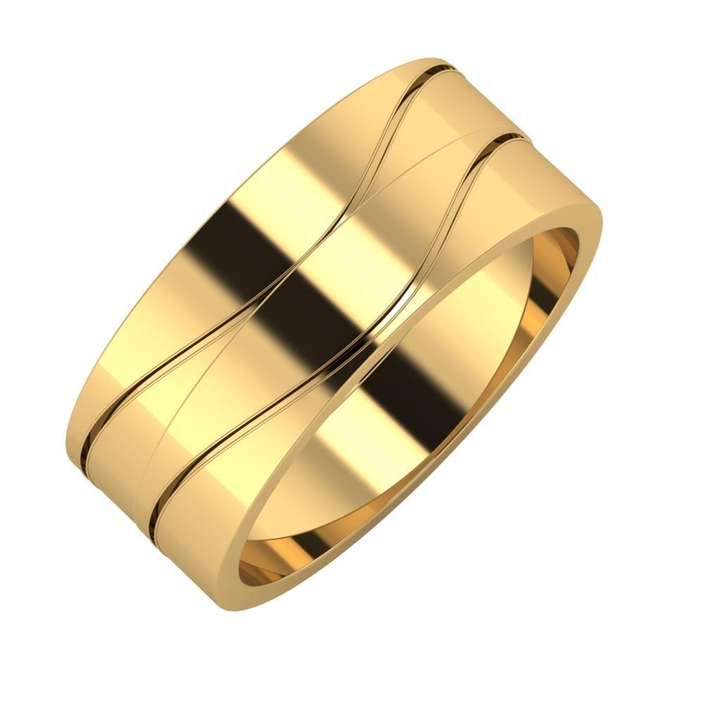 Adelinda - Adelinda 8mm 18 karátos sárga arany karikagyűrű