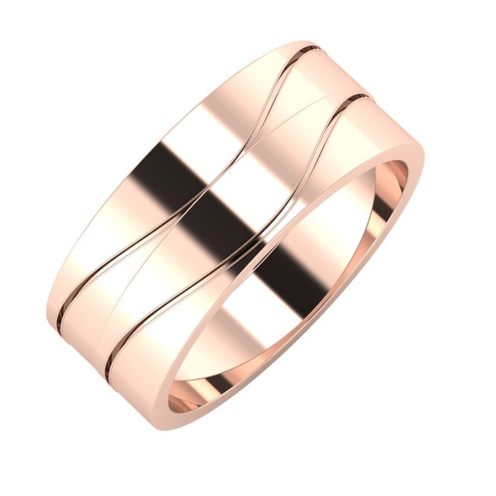 Adelinda - Adelinda 8mm 14 karátos rosé arany karikagyűrű