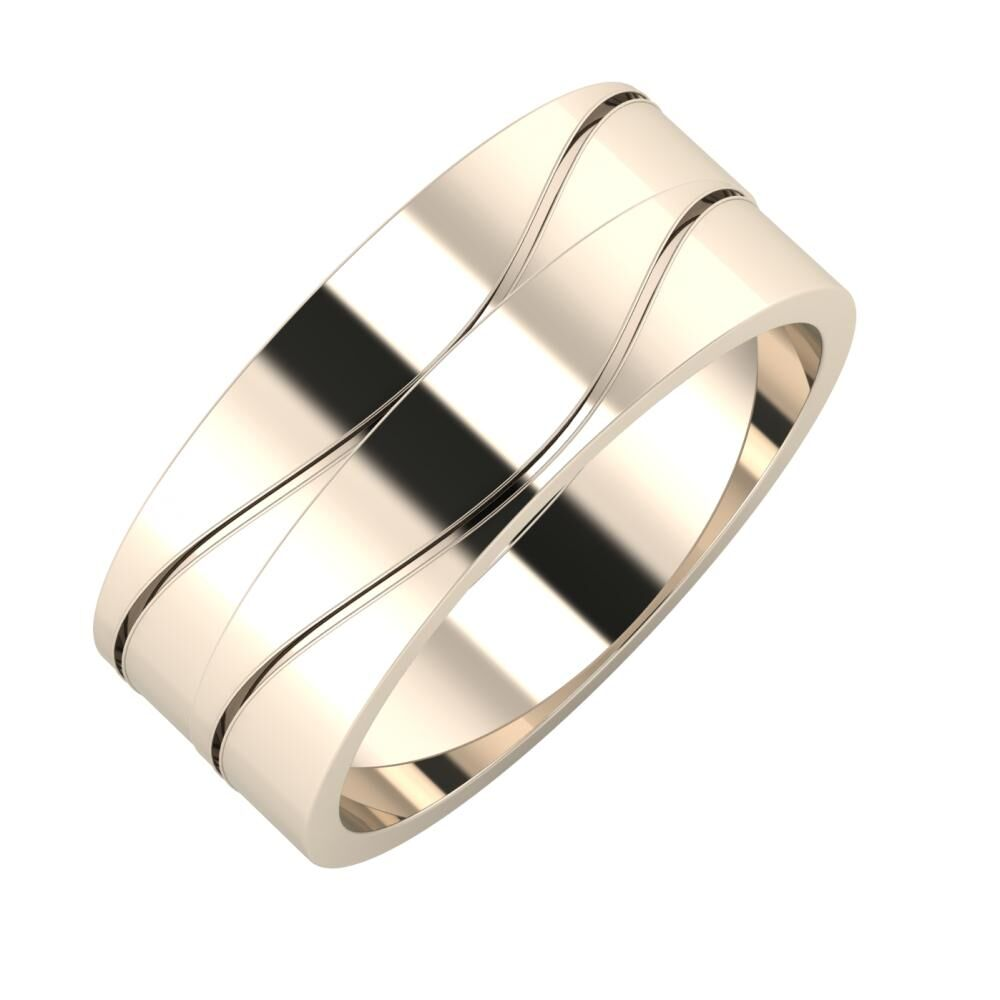 Adelinda - Adelinda 8mm 22 karátos rosé arany karikagyűrű