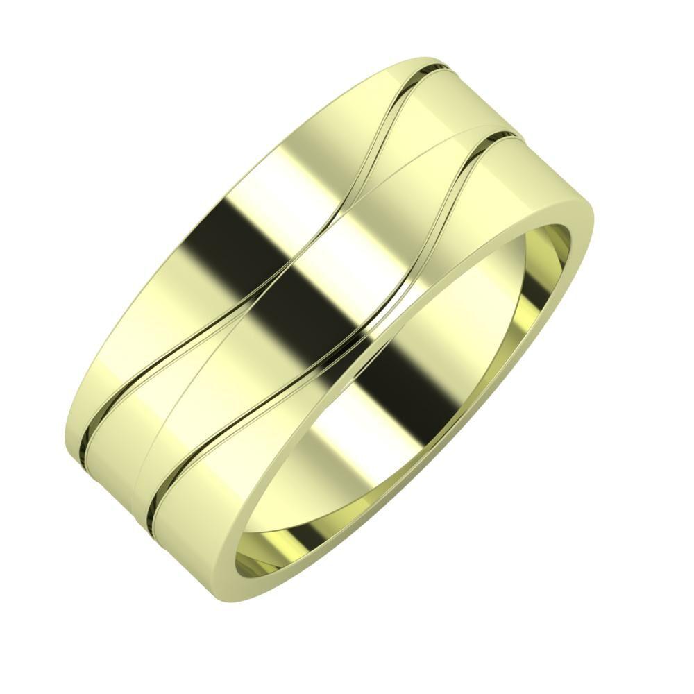 Adelinda - Adelinda 8mm 14 karátos zöld arany karikagyűrű