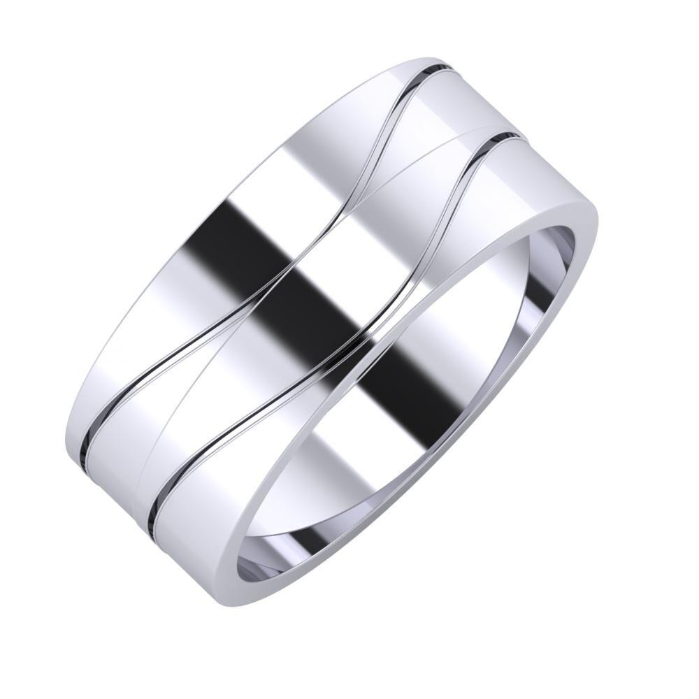 Adelinda - Adelinda 8mm platina karikagyűrű
