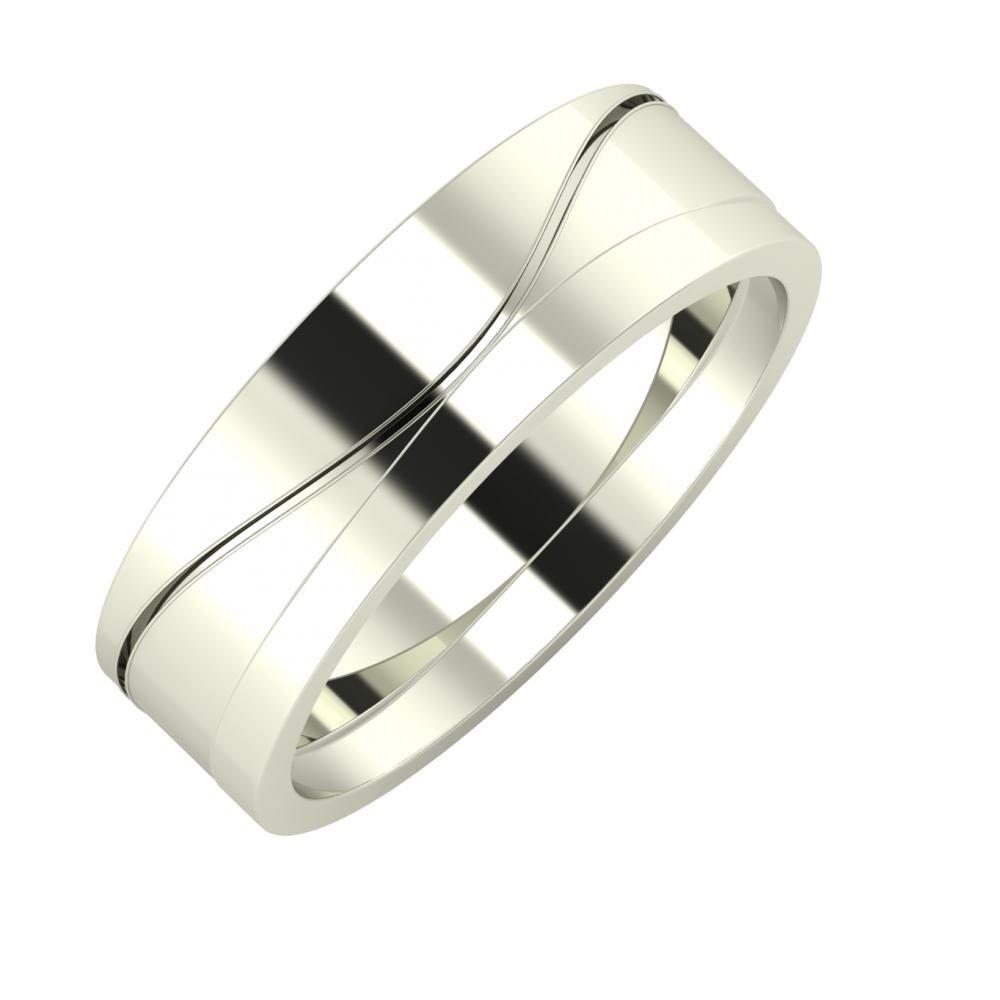 Adelinda - Adria 6mm 14 karátos fehér arany karikagyűrű