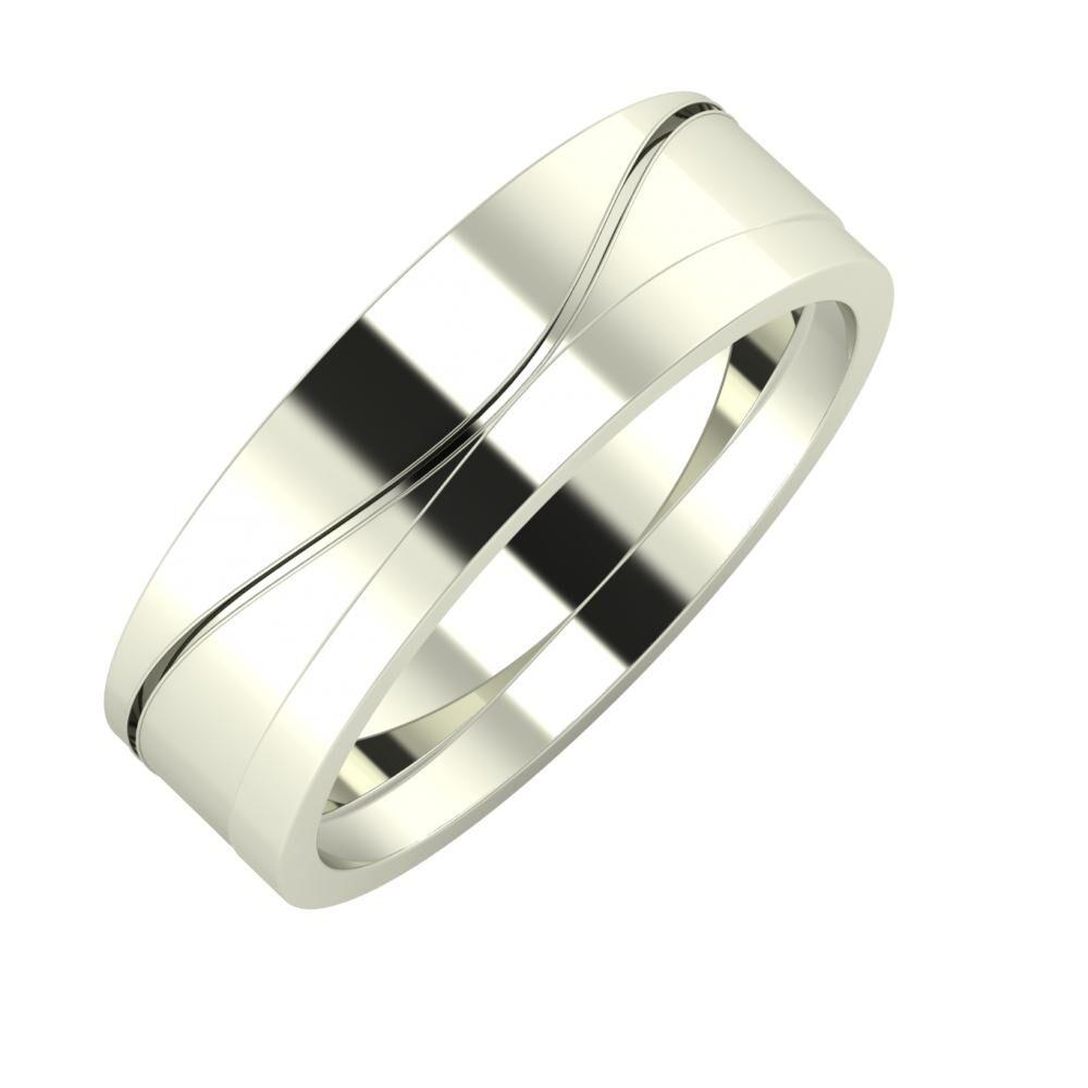 Adelinda - Adria 6mm 18 karátos fehér arany karikagyűrű