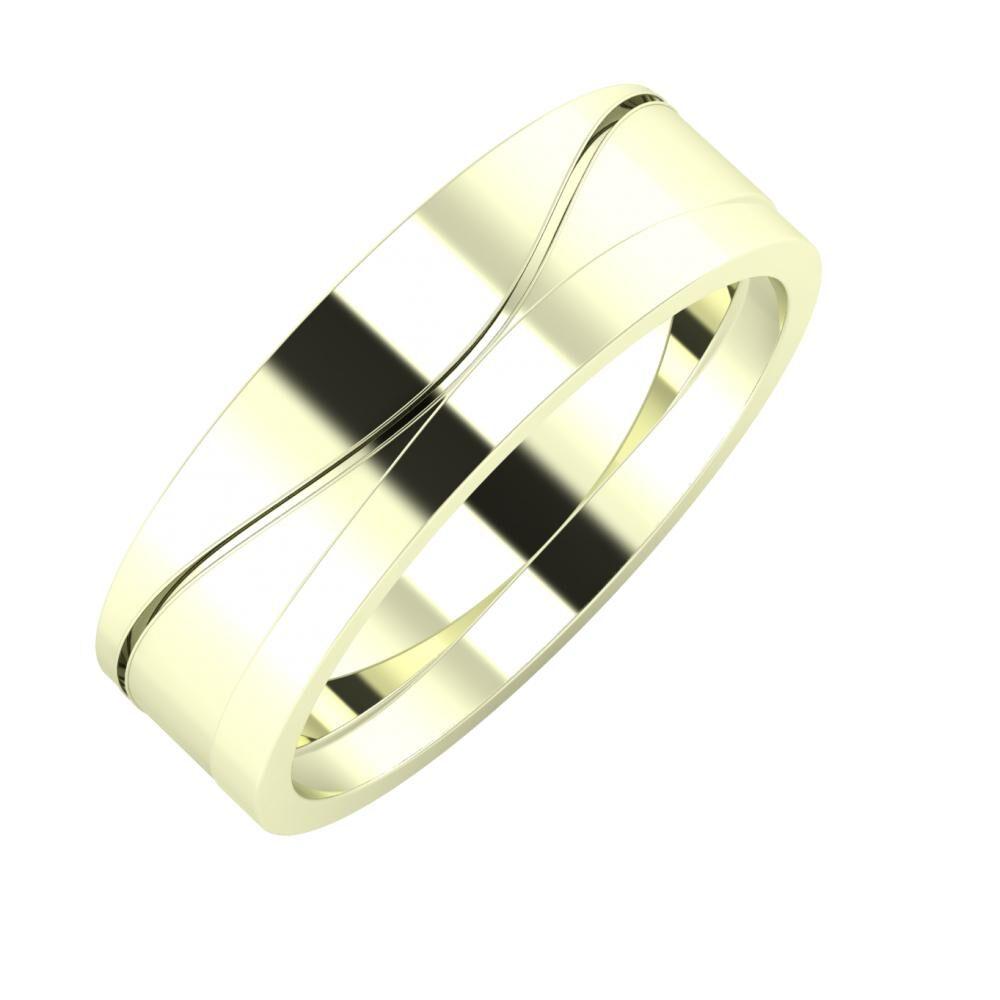 Adelinda - Adria 6mm 22 karátos fehér arany karikagyűrű