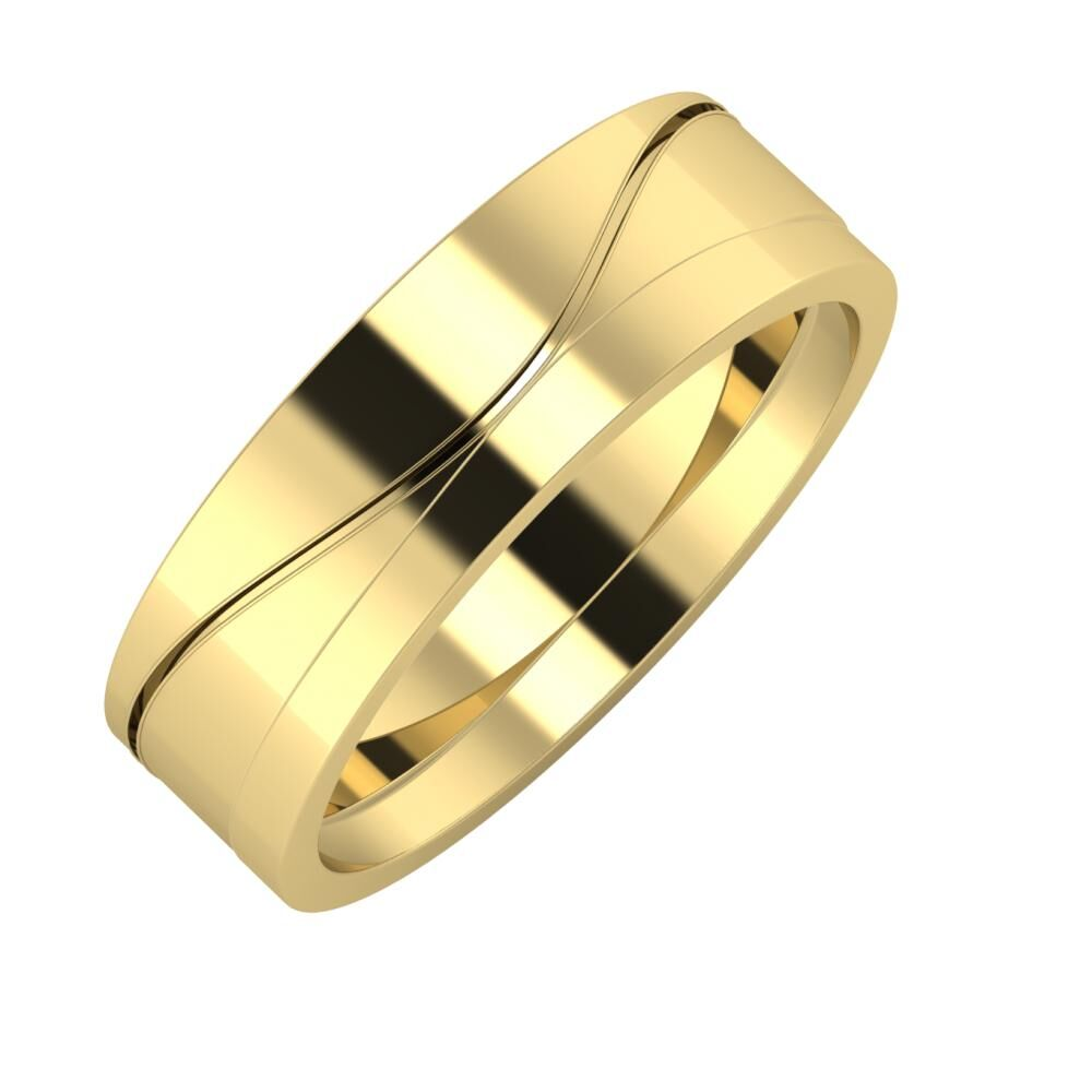 Adelinda - Adria 6mm 14 karátos sárga arany karikagyűrű