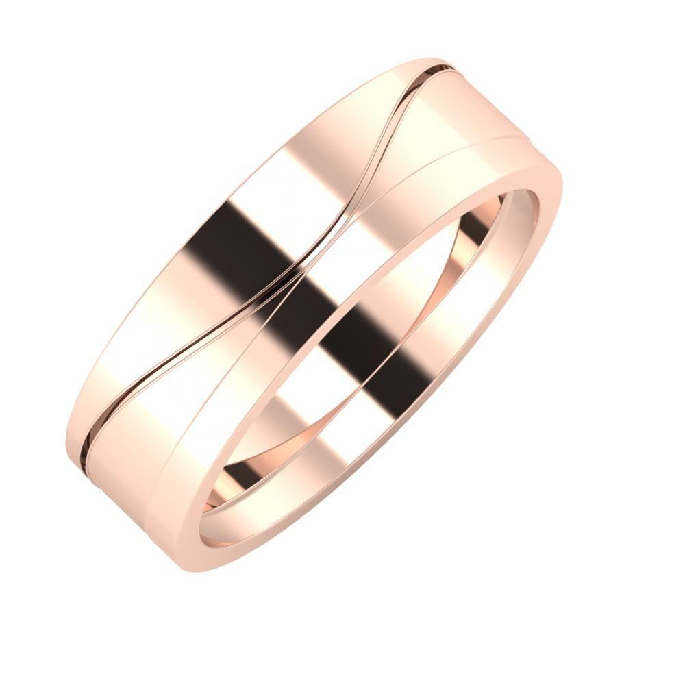 Adelinda - Adria 6mm 14 karátos rosé arany karikagyűrű