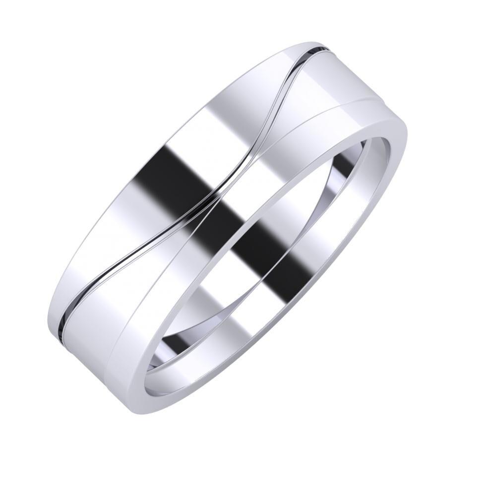 Adelinda - Adria 6mm platina karikagyűrű