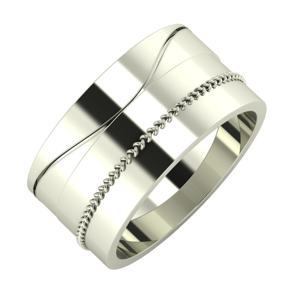 Adelinda - Áfonya 10mm 14 karátos fehér arany karikagyűrű