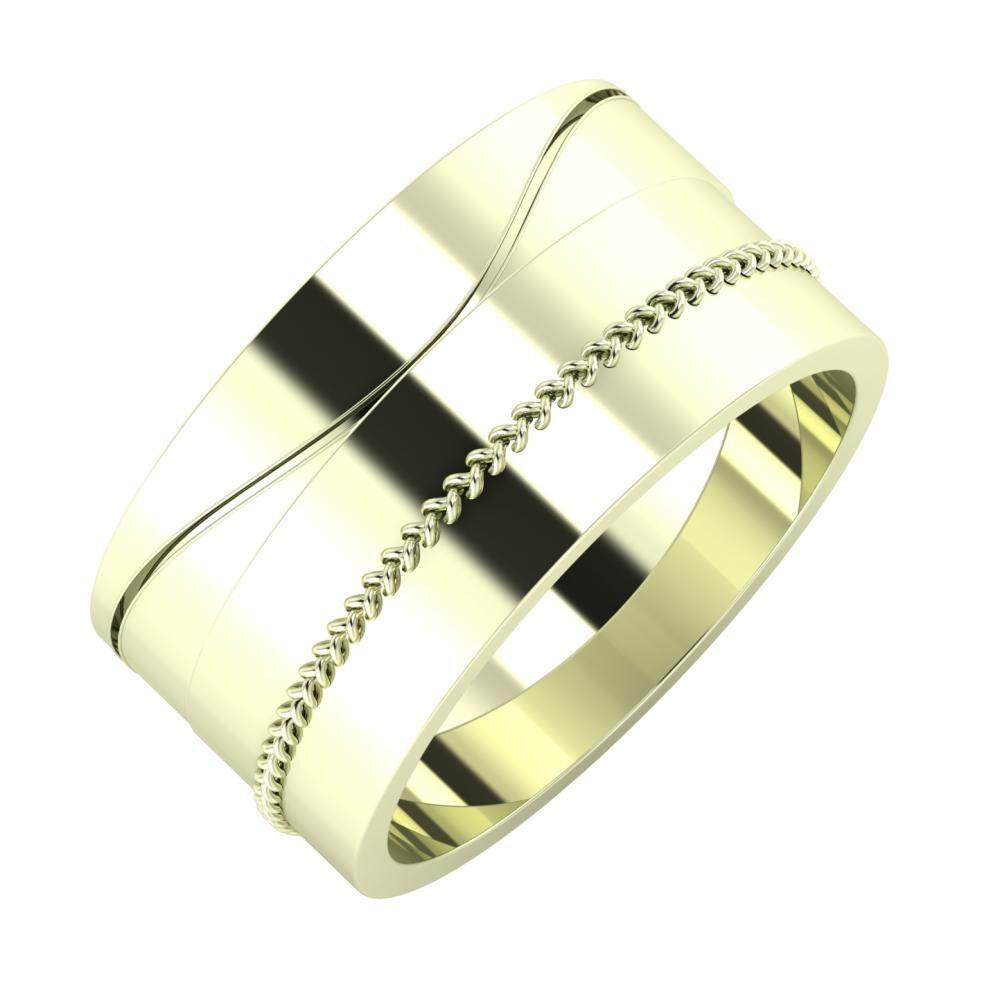 Adelinda - Áfonya 10mm 22 karátos fehér arany karikagyűrű