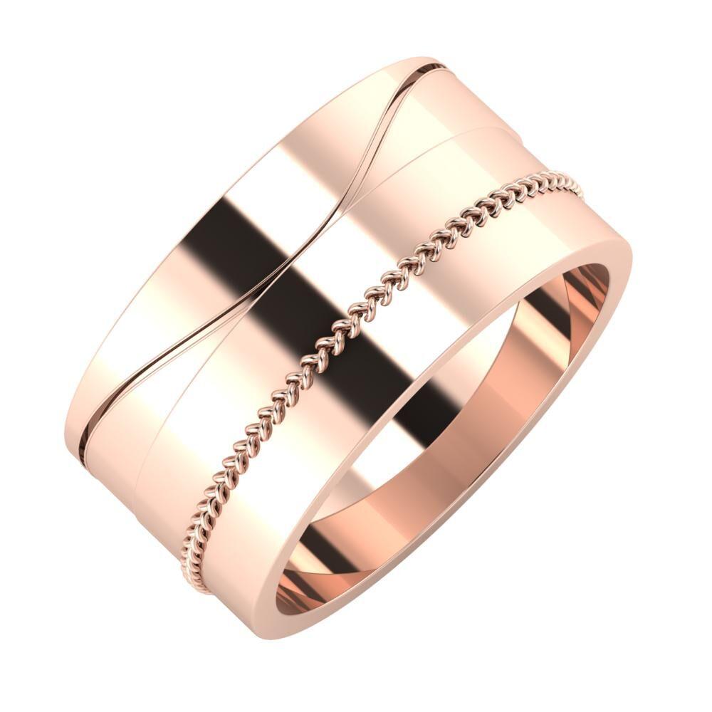 Adelinda - Áfonya 10mm 14 karátos rosé arany karikagyűrű